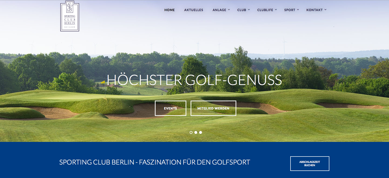 Sporting Club Berlin – Website